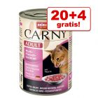20 + 4 gratis! 24 x 400 g Animonda Carny Adult bzw. Kitten