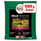 1kg Nutro Wild Frontier Dry Dog Food + 500g Free!*