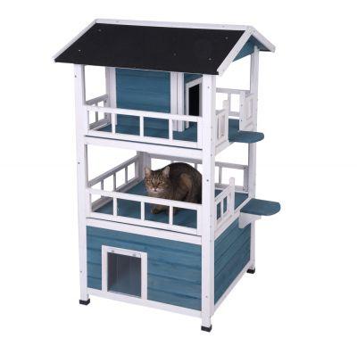 penthouse maisonnette pour chat zooplus. Black Bedroom Furniture Sets. Home Design Ideas