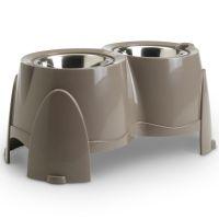 porte gamelles savic ergo feeder 2 x 0 85 l 1 5 l gamelle pour chien zooplus. Black Bedroom Furniture Sets. Home Design Ideas