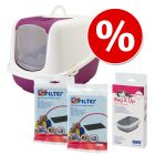 Startpakket Savic Kattenbak Nestor XXL + Vervangingsfilter + Savic Bag it Up Litter Tray Bags