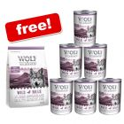24 x 400g Wolf of Wilderness Wet Dog Food + 400g Wolf of Wilderness