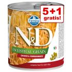 5 + 1 gratis! 6 x 285 g Farmina N&D