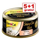 5 + 1 gratis! 6 x 70 g GimCat ShinyCat Filet