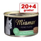 20 + 4 gratis! 24 x 100 g Miamor Fine Fileter