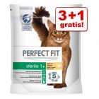 3 + 1 gratis! 4 x 750 g Perfect Fit tørfoder