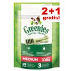 2 + 1 gratis! 3 x Greenies snacks