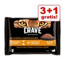 3 + 1 gratis! Crave Cat vrečke multi pakiranje 4 x 85 g