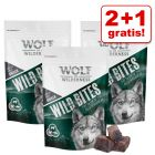 2 + 1 gratis! Wolf of Wilderness Snack - Wild Bites 180 g
