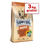 12 + 3 kg gratis! 15 kg Happy Dog NaturCroq