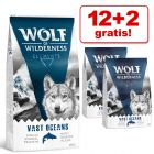 12 + 2 kg gratis! 14 kg Wolf of Wilderness Trockenfutter