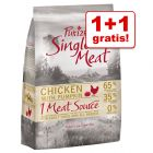 1 + 1 kg gratis! Purizon Single Meat, bez zbóż, 2 kg