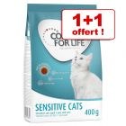 1 + 1 offert ! 2 x 400 g Concept for Life Sensitive Cats