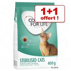 1 + 1 offert ! 2 x 400 g Concept for Life Sterilised Cats