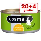 20 + 4 offerts ! 24 x 170 g Cosma Original in Jelly