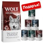 12 кг Wolf of Wilderness + 6 x 400 г