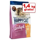 10 kg + 1,4 kg gratis! 11,4 kg Happy Cat Sterilised
