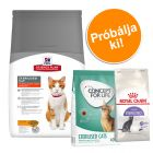 1,5 kg Hills Feline Sterilised + 400 g Concept for Life és Royal Canin