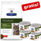 8 kg Hill's Metabolic Weight Management + 4 x 82 g vådfoder gratis!