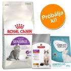 2 kg Royal Canin Sensible + 400 g Concept for Life és Hill's Sensitive
