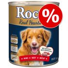 20% korting op 24 x 800 g Rocco Real Hearts