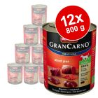 12 x 800 g Animonda GranCarno Original Adult