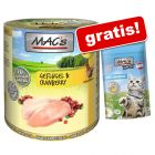 6 x 800 g MAC´s Cat + 60 g MAC's Shakery Snack Anti-Hairball gratis!