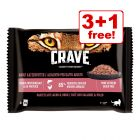 4 x 85g Crave Cat Pouches Trial Pack - 3 + 1 Free!*