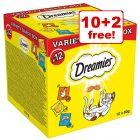 12 x 60g Dreamies Variety Snack Box - 10 + 2 Free!*