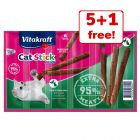 6 x 6g Vitakraft Mini Cat Sticks - 5 + 1 Free!*