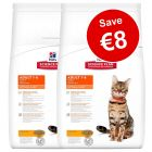 2 x Large Bags Hill's Science Plan Dry Cat Food - Save €8!*