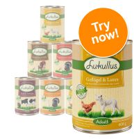 6 x 400g Lukullus Dog Food Mixed Trial Pack