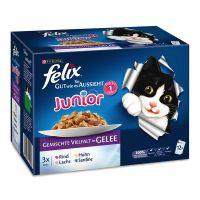 """12 x 100 g Felix """"So gut wie es aussieht"""" Junior, gemischte Vielfalt"""