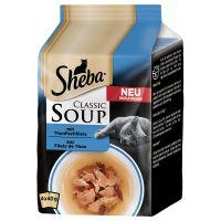 4 x 40 g Sheba Classic Soup filetes de atum