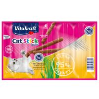 6 x 6g Vitakraft Mini Cat Sticks - Chicken & Cat Grass