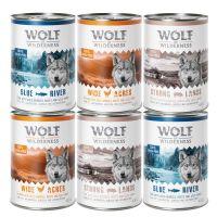 6 x 400 g Wolf of Wilderness Adult Mix - Huhn, Schwein, Fisch