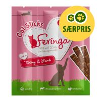 3 stk. (18 g) Feringa Sticks kattesnacks - Kalkun & Lam