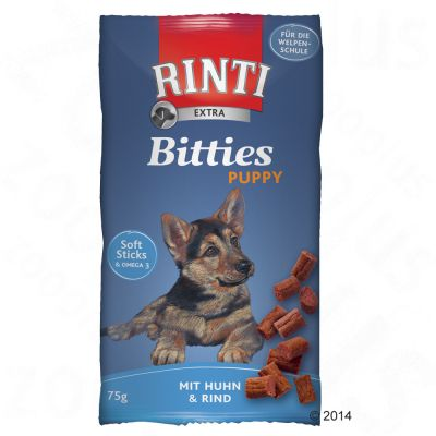 Rinti Extra Puppy Bitties csirke & marha - 75 g