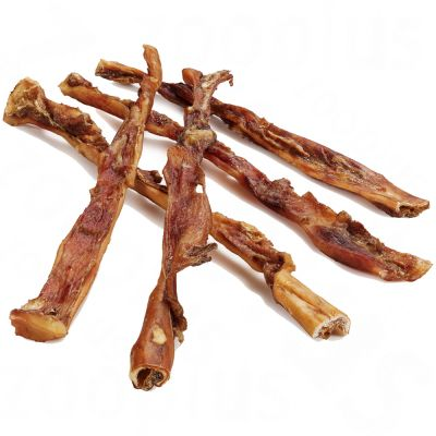 5 Dried Beef Scalp Dog Chews - Extra Long