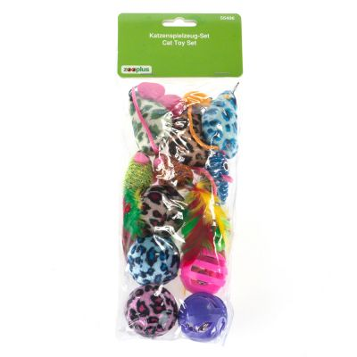 12 Piece Cat Toy Set with Balls and Mice
