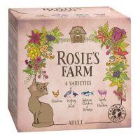 Pachet de testare Rosie's Farm Adult 4 x 100 g, Pachet mixt (4 sortimente)