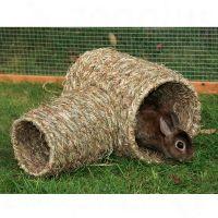 Double tunnel en herbe pour rongeur et lapin