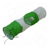 Tunel pentru pisici - Ø 24 cm x L 100 cm (verde & alb)
