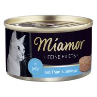 100 g Miamor Fine Fileter - Tun & rejer i gelé