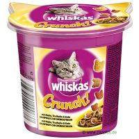 100g Whiskas Crunch Cat Treats with Chicken, Turkey & Duck