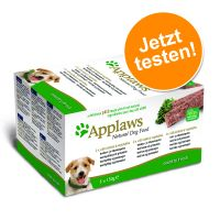 5 x 150 g Applaws Dog Paté Probierpack Country Selection, Hühnchen, Lamm & Lachs