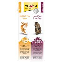 GimCat Pachet combi multivitamine + malț 2 x 50 g