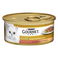 12 x 85g Gourmet Gold Double Delicacies Duck & Turkey