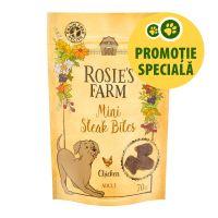 """Rosie's Farm Snacks """"Mini Steak Bites"""" Pui, 70 g"""
