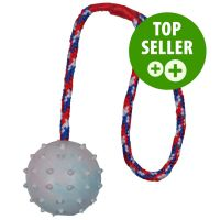 6cm Trixie Rubber Ball with Throwing Handle